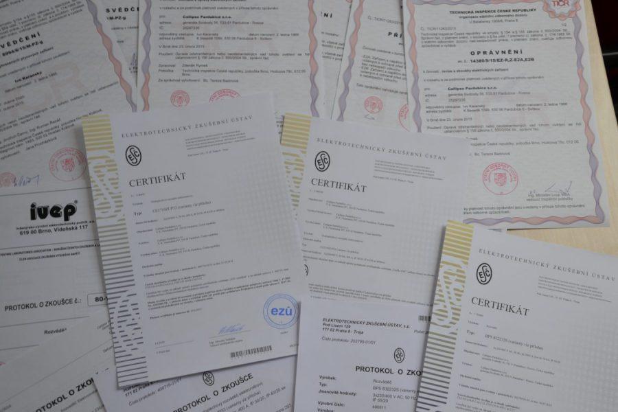 Výroba rozvaděčů - certifikace