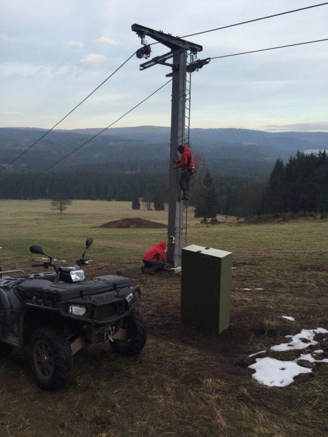 Elektroinstalace - lyžařský vlek