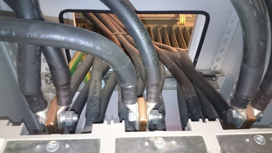 Rozvaděče - přívodní kabely